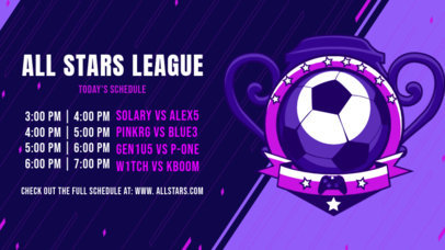 Gaming Twitch Banner Generator for an eSports Tournament with a Soccer Ball Graphic 2811i