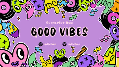 Twitch Banner Design Maker for Music Channels with a Trippy Vibe 2825d