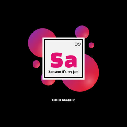 Online Logo Maker Featuring a Chemistry Element Style 3573a