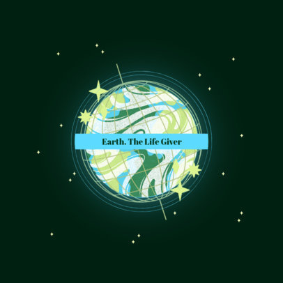 Logo Template with a Graphic of the Earth 3574b