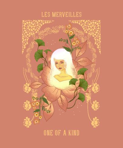 Unique T-Shirt Design Maker with Art Nouveau Illustrations of Women 2834