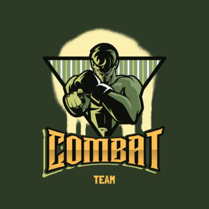 Team Logo Maker with the Graphic of a Menacing Fighter 3586e