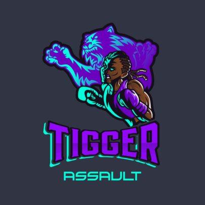Gaming Logo Maker Featuring a Tiger-Spirited Boxer 3586h