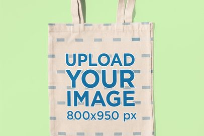 Mockup of the Close-Up of a Sublimated Tote Bag 41706-r-el2