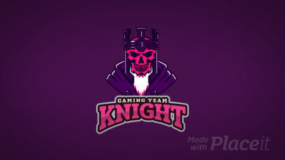 Animated Logo Maker with a Detailed Animation of a Horror King Raising 2273