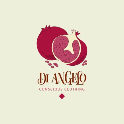 Illustrated Logo Generator Featuring a Pomegranate Graphic 3608g