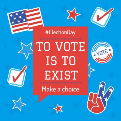 Instagram Post Maker for an Election Day Voting Promo 2875e