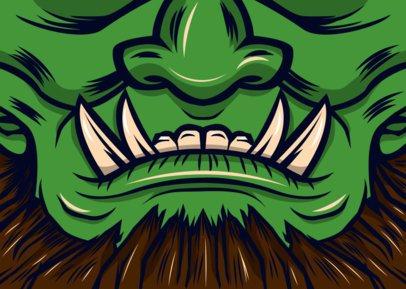 Face Mask Design Creator of a Werewolf 2881f