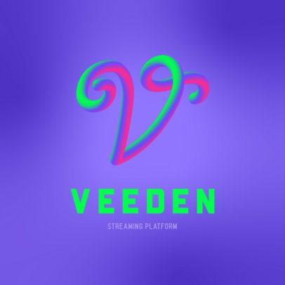 Logo Creator Featuring a Bicolor Neon Letter 3613e