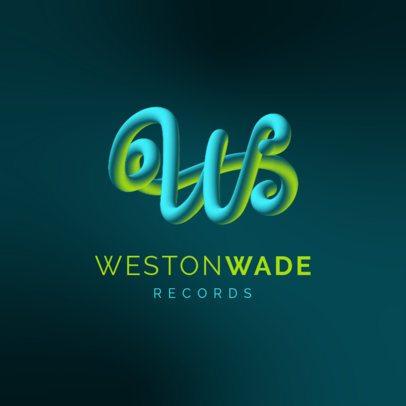 Online Logo Maker Featuring a Vibrant Cursive Letter Graphic 3613g