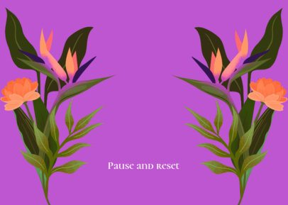 Face Mask Design Generator Featuring Illustrated Bird of Paradise Flowers 2883d