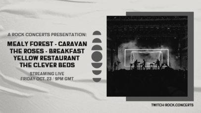 Twitch Banner Design Maker for a Virtual Rock Concert Lineup Announcement 2728c-el1