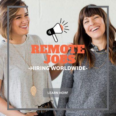 Ad Banner Design Maker for a Remote Job Opportunity 2900e