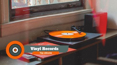Lower Third Banner Maker with a Vinyl Record Graphic 2905p
