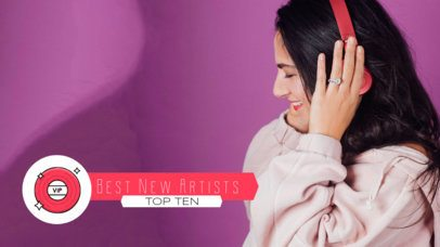 Lower Third Banner Maker for a New Pop Artists Top Ten 2905i