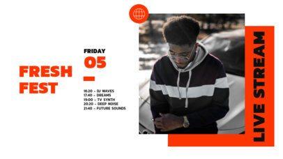 Twitch Banner Design Maker for Freestyle Rap Festivals 2732-el1