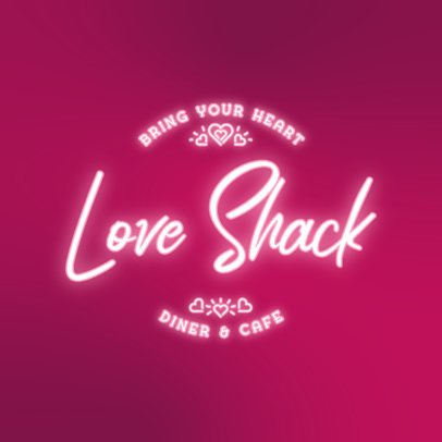 Late Dinner Logo Generator Featuring Glowing Typeface 3632f