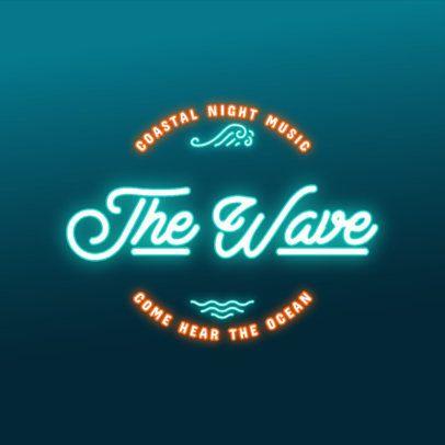 Online Logo Maker for a Beach Bar Featuring Neon Font 3632i