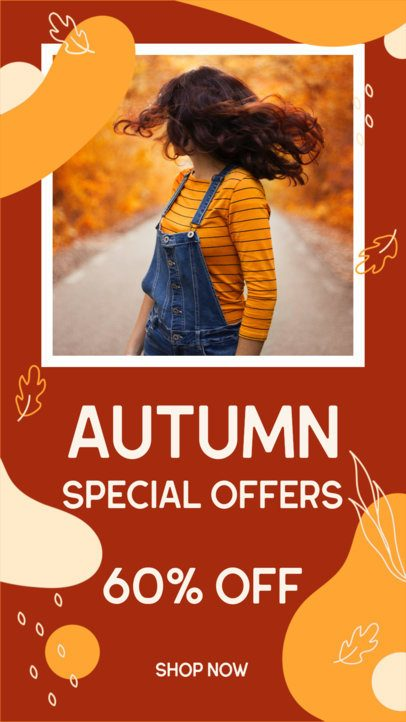 Instagram Story Template Featuring an Autumn Color Palette 2945