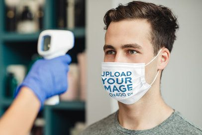 Face Mask Mockup Featuring a Young Man 42142-r-el2