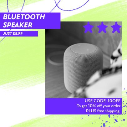 Ad Banner Template for a New Bluetooth Speaker 2934a