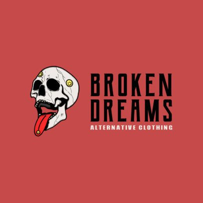 Free Logo Generator for an Alternative Clothing Brand Featuring a Skull Graphic 3695d