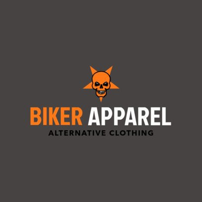 Free Logo Template for a Motorcycle Clothing Brand Featuring a Skull Clipart 3695e