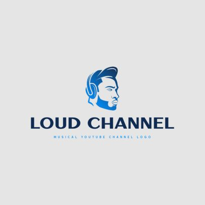 Music Channel Logo Maker Featuring a Gradient Graphic 3694l