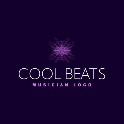 Logo Creator for a Beatmaker Featuring an Abstract Graphic 3694p
