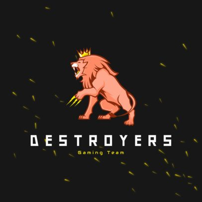 Logo Creator Featuring a Ferocious Lion with a Crown 3693g
