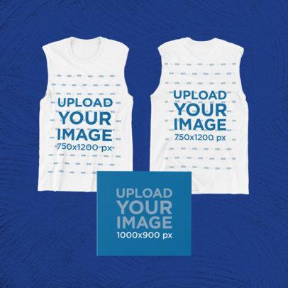 Merch Bundle Mockup Featuring Two Sleeveless Shirts and a Digipak 43381-r-el2