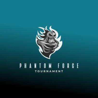 Horror-Themed Logo Maker for a Gaming Tournament 3693s