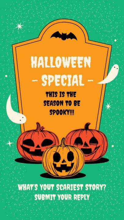 Instagram Story Design Template For Halloween Questions 2860-el1
