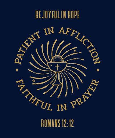 Christian T-Shirt Design Creator Featuring a Bible Verse 2964a