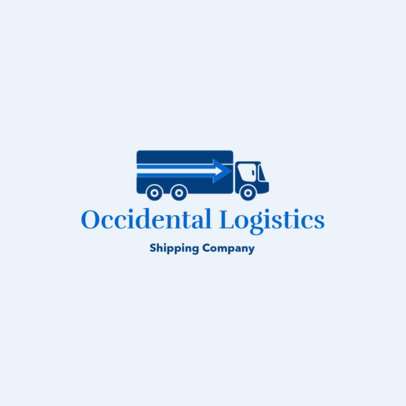 Free Logo Maker for a Logistics Business with a Truck Icon 3696k