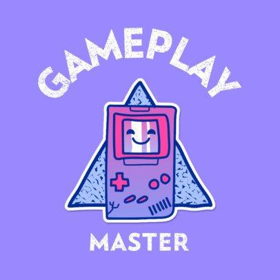 Logo Generator Featuring a Retro Handheld Gaming Console 3683f