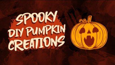 YouTube Thumbnail Maker for DIY Halloween Creators 2969a