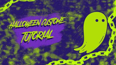 YouTube Thumbnail Template for a Halloween Costume Tutorial  2969c