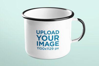 Mockup of a Simple 12 oz Enamel Mug 43564-r-el2
