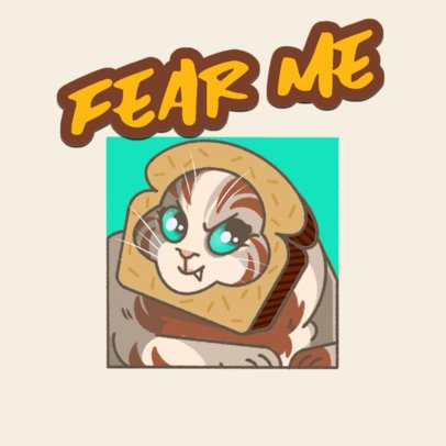 Twitch Emote Logo Maker for a Gaming Channel with a Cute Kitten Graphic 3674d