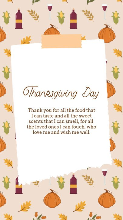 Instagram Story Design Maker for Thanksgiving Day 2947-el1