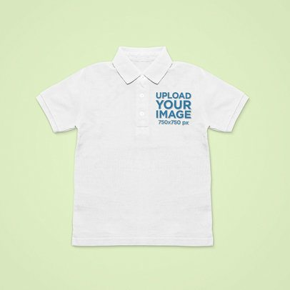Mockup of a Polo Shirt Laid over a Solid Surface 42430-r-el2