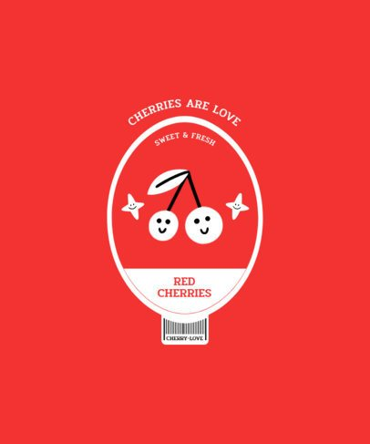 T-Shirt Design Creator Featuring a Label-Like Graphic of Cherries 2956a-el1