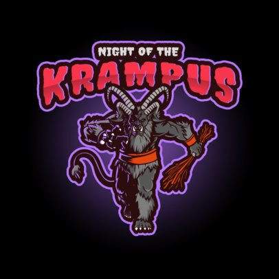 Horror Gaming Logo Creator with a Clipart of Krampus 3711j