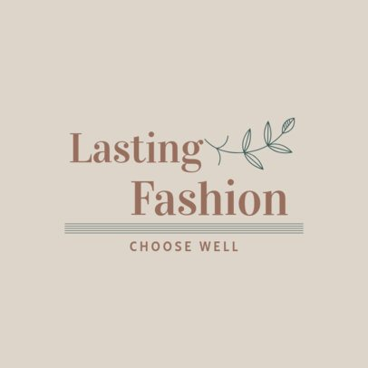 Clothing Brand Logo Maker with a Sustainability-Theme 3631d