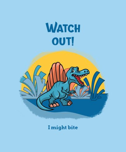 Illustrated T-Shirt Design Maker with a Cartoon of a Dinosaur 2960c-el1