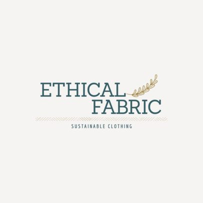 Minimalistic Logo Maker for a Sustainable Clothing Brand 3631h