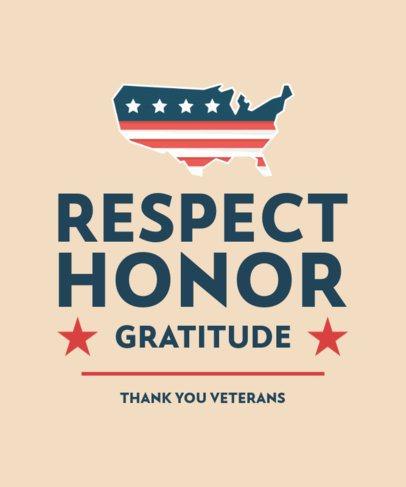 Veterans Day T-Shirt Design Maker with a Gratitude Slogan 2993b