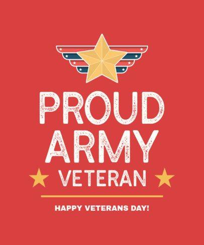 T-Shirt Design Generator for Proud Army Veterans 2993e