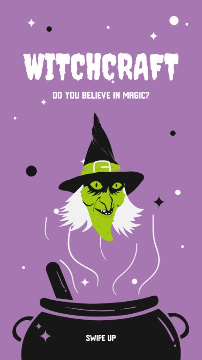 Halloween Instagram Story Maker with a Witchcraft-Themed Clipart 2955a-el1